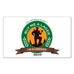 Buy a Lager For a Logger Sticker (Rectangle)