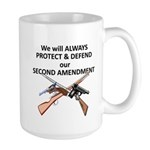 Protect & Defend theSecond Am Large Mug