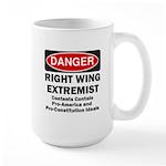Danger Right Wing Extremist Large Mug