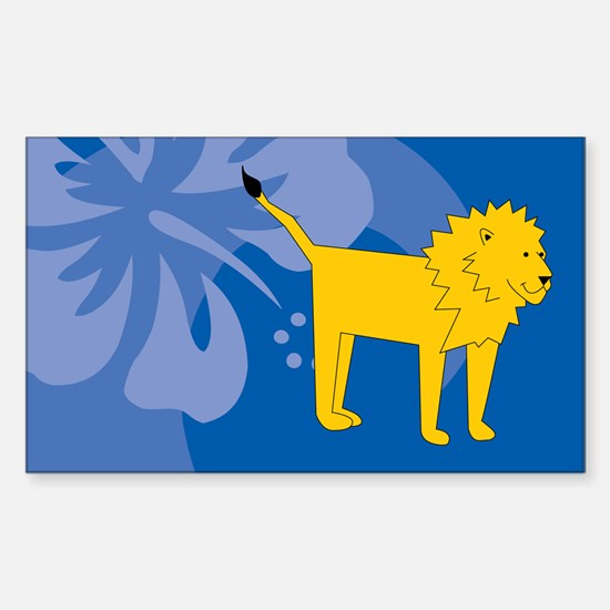 Lion Sticker (Rectangle)