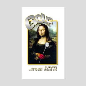 GOLF...IT'S AN ART! Rectangle Sticker