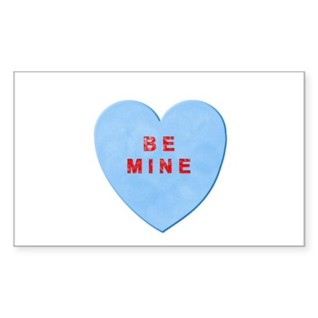 Be Mine Valentine Sticker (Rectangle)
