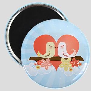Love Birds Blue - Magnet