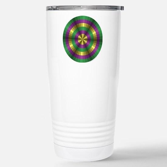 Mardi Gras Illusion Stainless Steel Travel Mug