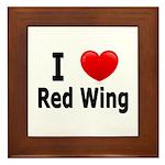 I Love Red Wing Framed Tile