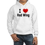 I Love Red Wing Hooded Sweatshirt