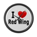 I Love Red Wing Large Wall Clock