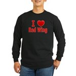 I Love Red Wing Long Sleeve Dark T-Shirt