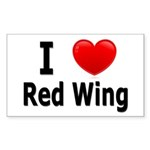 I Love Red Wing Sticker (Rectangle 10 pk)