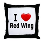 I Love Red Wing Throw Pillow