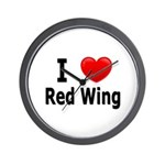 I Love Red Wing Wall Clock