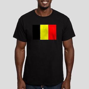 Belgium Men's Fitted T-Shirt (dark)