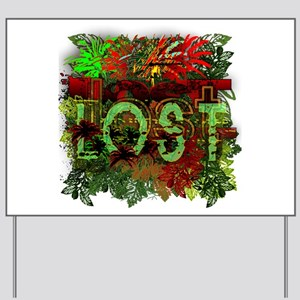Lost TV Jungle Heat Yard Sign