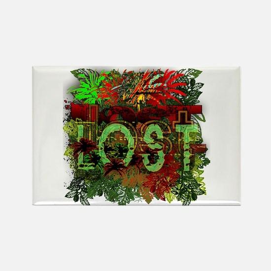 Lost TV Jungle Heat Rectangle Magnet