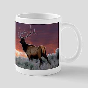 elk sunset Mug
