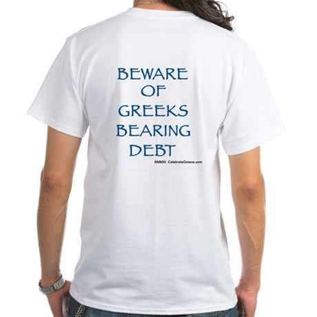 Men's White T-Shirt (Print: Front & Back)