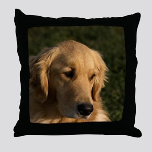 Golden Retriever Head Throw Pillow