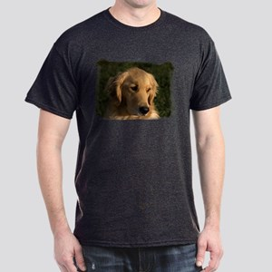 Golden Retriever Head Dark T-Shirt