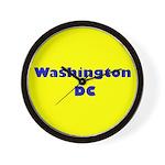 Washington DC (Yellow/Blue) Wall Clock