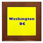 Washington DC (Yellow/Blue) Framed Tile