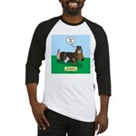 The Ferocious Viking Wiener Dog Baseball Tee