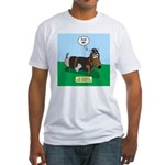 The Ferocious Viking Wiener Dog Fitted T-Shirt