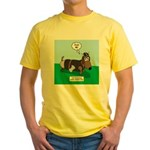 The Ferocious Viking Wiener Dog Yellow T-Shirt