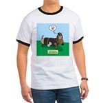 The Ferocious Viking Wiener Dog Ringer T