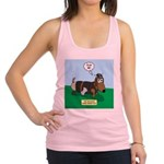 The Ferocious Viking Wiener Dog Racerback Tank Top