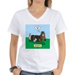 The Ferocious Viking Wiener Women's V-Neck T-Shirt