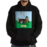 The Ferocious Viking Wiener Dog Hoodie (dark)