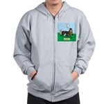 The Ferocious Viking Wiener Dog Zip Hoodie