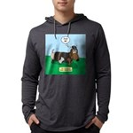 The Ferocious Viking Wiener Dog Mens Hooded Shirt