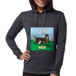 The Ferocious Viking Wiener Do Womens Hooded Shirt