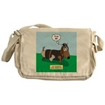 The Ferocious Viking Wiener Dog Messenger Bag