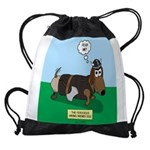 The Ferocious Viking Wiener Dog Drawstring Bag
