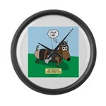 The Ferocious Viking Wiener Dog Large Wall Clock