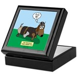 The Ferocious Viking Wiener Dog Keepsake Box