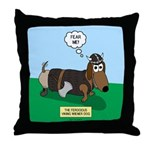 The Ferocious Viking Wiener Dog Throw Pillow