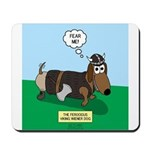 The Ferocious Viking Wiener Dog Mousepad