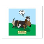 The Ferocious Viking Wiener Dog Small Poster