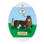 The Ferocious Viking Wiener Dog Oval Ornament
