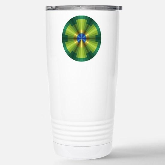 Peacock Illusion Stainless Steel Travel Mug