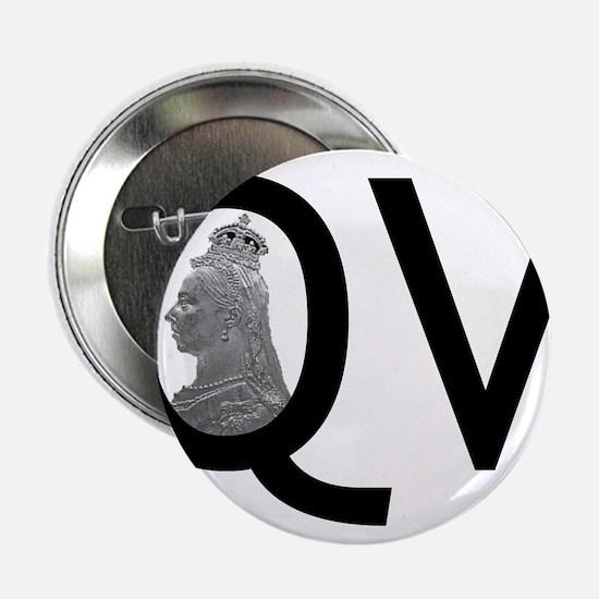 "Queen Victoria 2.25"" Button"