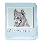 Alaskan Klee Kai baby blanket
