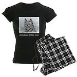Alaskan Klee Kai Women's Dark Pajamas