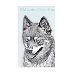Alaskan Klee Kai Sticker (Rectangle 50 pk)