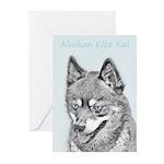 Alaskan Klee Kai Greeting Cards (Pk of 10)