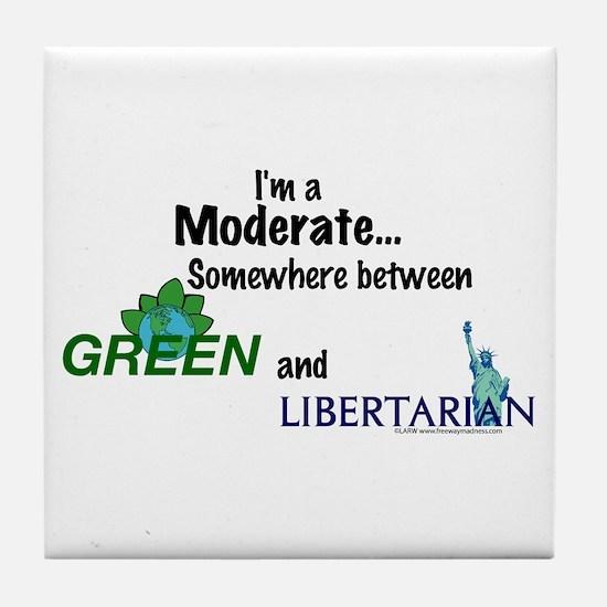 I'm A Moderate Tile Coaster