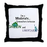 I'm A Moderate Throw Pillow